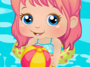 Click to Play Baby Alice Beach Day