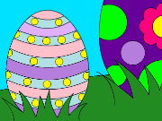 Click to Play Easter Eggs Coloring